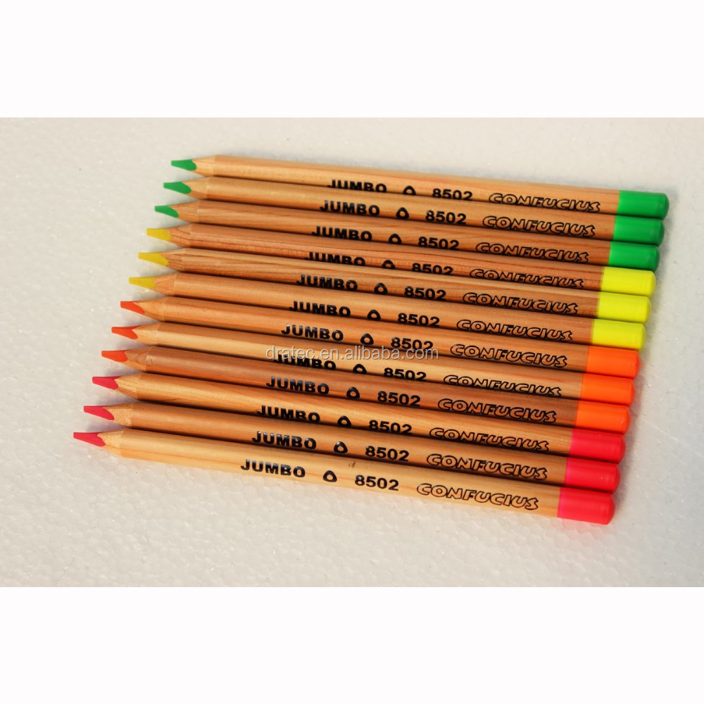Jumbo neon colored pencils,colored pencils, neon pencils