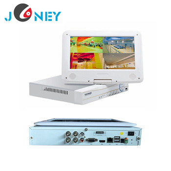 H.264 4ch dvr 10.1 inch monitor digital video recorder AHD DVR
