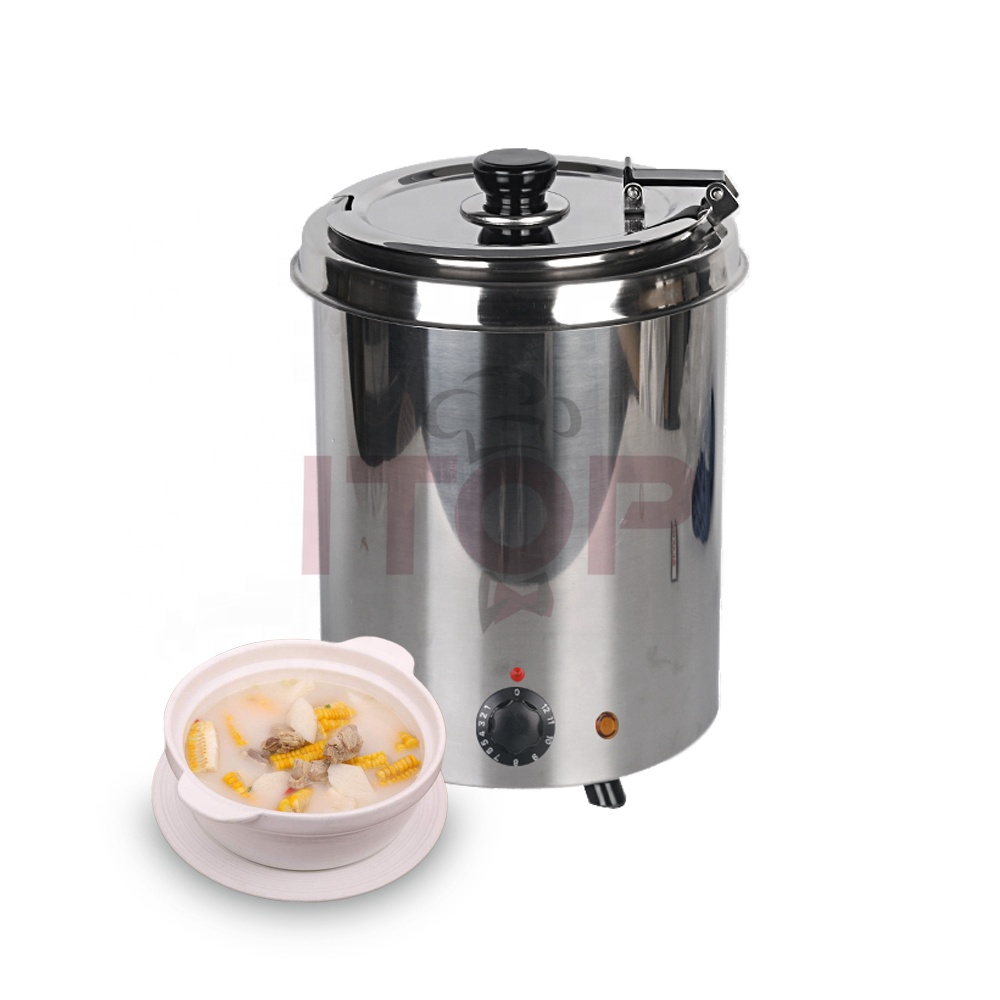 Stainless steel 5.7L Electric Soup Kettle Economic commercial soup boiler electric soup warmer