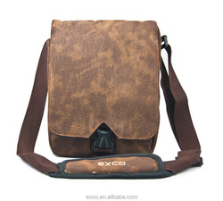 EXCO canvas fashion style shock adsorption nylon computer mini sling bag for iPad