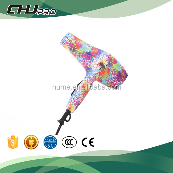 New style hair dryer of Water transfer and Colorful hair dryer blower CHJ8820