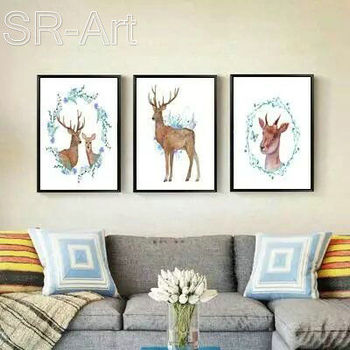 New Product Elk High Definition Printing Canvas Art Decoration Painting