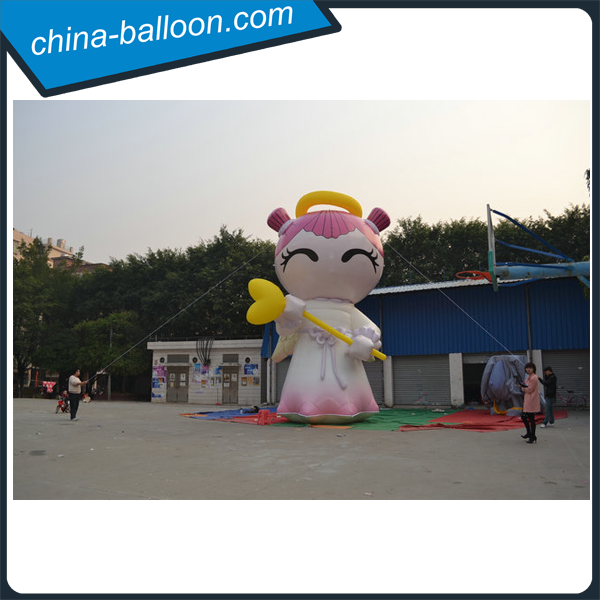 Lovely cartoon girl inflatables /inflatable giant cartoon model for sale
