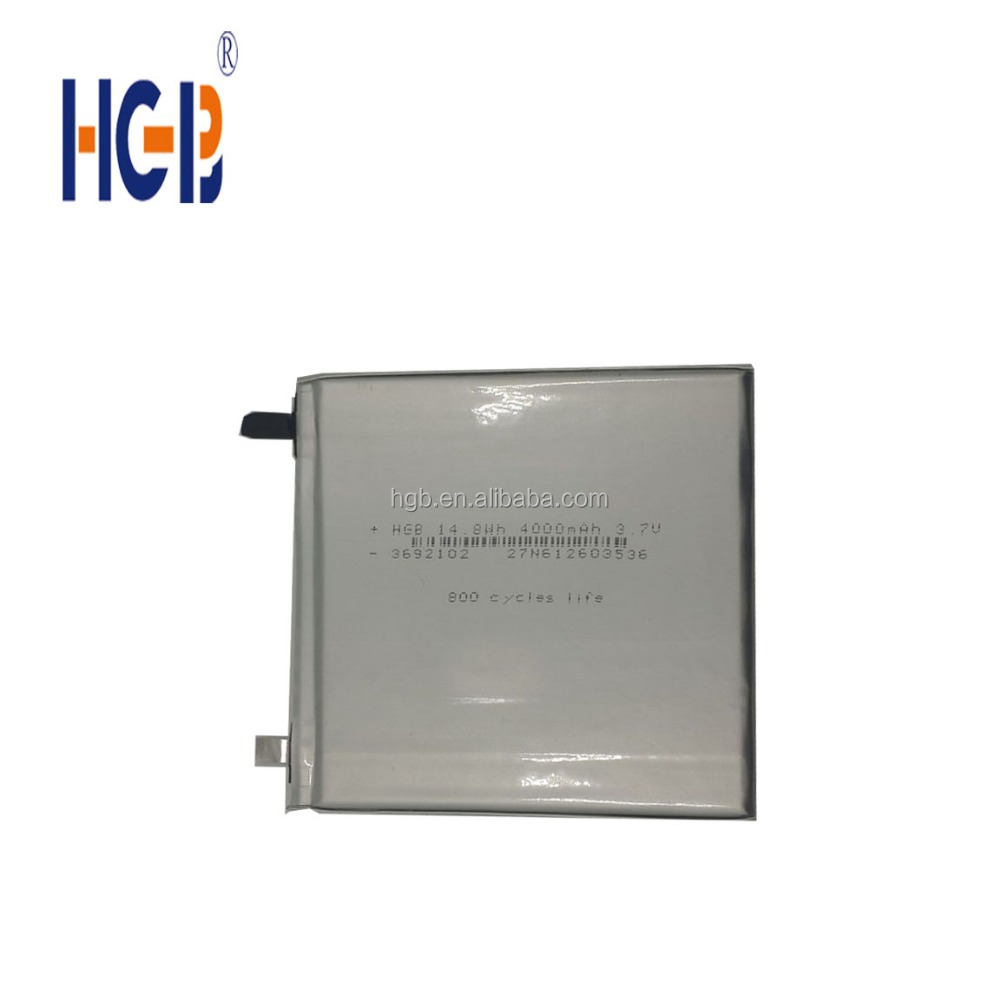 high quality HGB3692102 4000mAh 3.7V rechargebale lithium ion battery for tablet personal computer