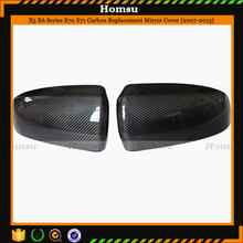 carbon replacement tuning mirror covers for bmw suv vehical 2007 - 2013