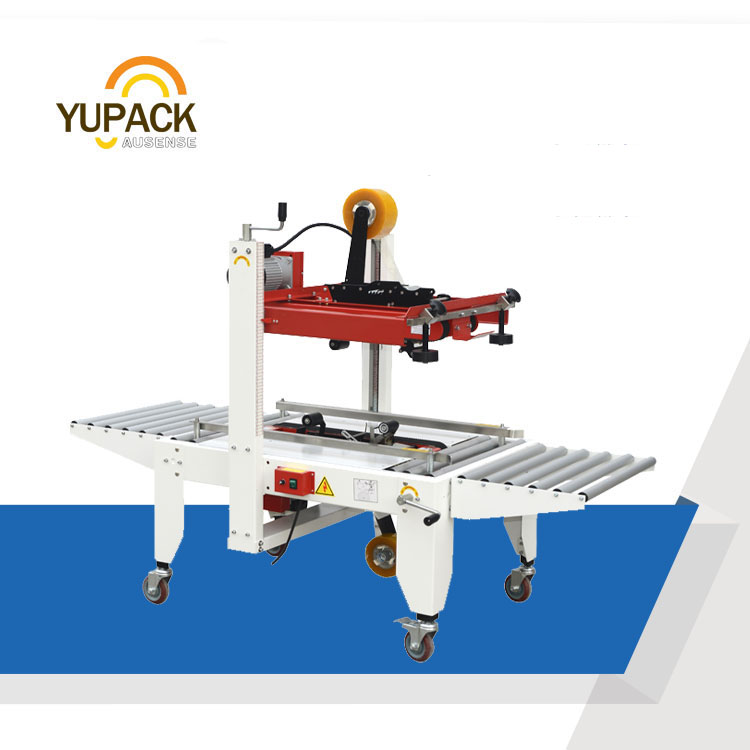 FXJ-6050 semi automatic carton sealer with top&bottom belt drive
