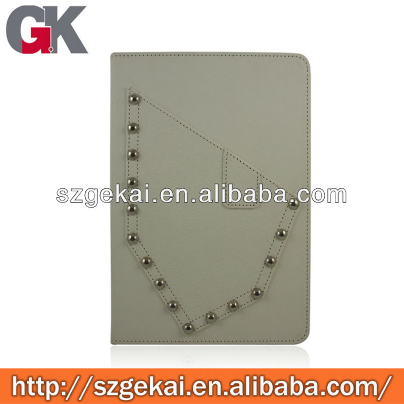 Funky Style Spikes Studs Rivet PU Leather Flip Cover For ipad mini