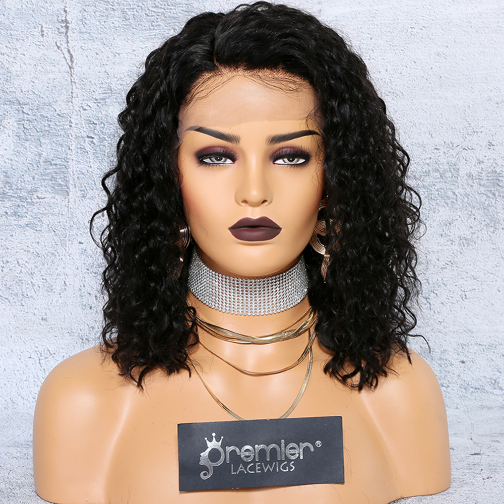 "new arrival 4.5"" deep part pre-plucked lace frontal wig permanent root to tip nice curl type"