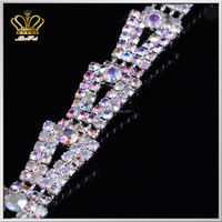 wholesale wedding shoulder jewelry crystal rhinestone cup chain sew on sexy luxury women dress