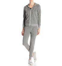 Wholesale best quality women sport jogging tracksuit plain sweat suits