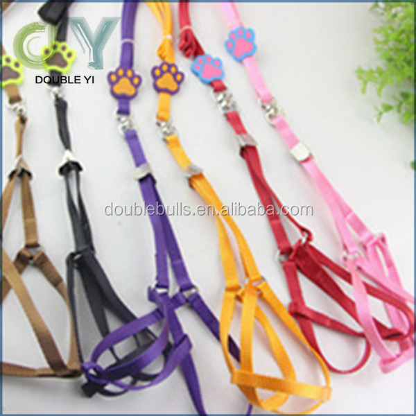 Adjustable rainbow color Print Nylon Small Dog Puppy Pet Harness and Walking Leash other pet supplies