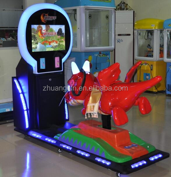 Zhuanglun hot sale 3d video games machine electronic racing games kiddie rides 3d horse game