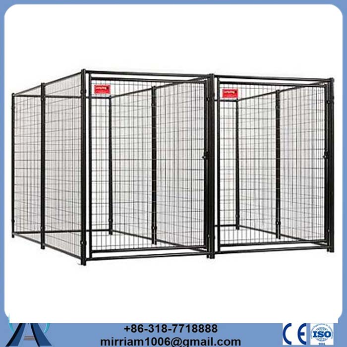 China wholesale or galvanized comfortable kennel with locking gate latch