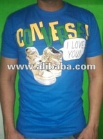 Party wear blue color T-Shirt in 100% cotton