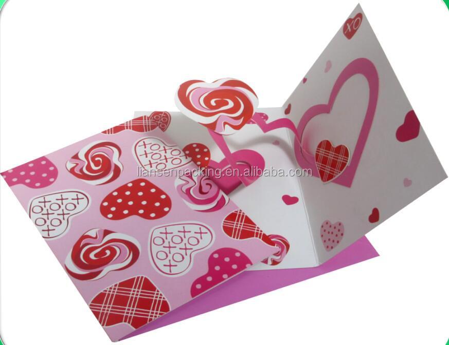 Heart pop up card For Valentine's Day
