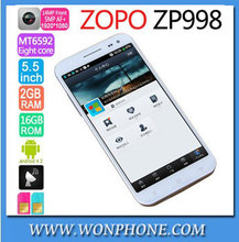 ZOPO ZP998 5.5' FHD Corning Gorilla GlassMTK6592 Octa Core 1.7GHZ 2GB 16GB Android 4.2 NFC Mobile Phone 1920*1080 14.0MP Camera