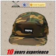 High quality custom cotton adjustable snapback men 5 panel hat