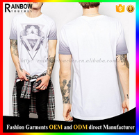 Cotton Sublimation Loose Logo Design Longline T Shirt Men
