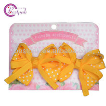 ribbon art butterfly bow twin hair clips