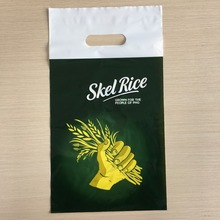 Hot Sale Die Cut Plastic HDPE Bag Punch Hole Plastic Bag Printed Poly Bag