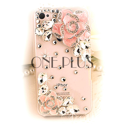 Fashion Innovertive Floral Phone Case For Iphone 4 4Plus Delicate Gems Rhinestone Cover Case For Iphone 5