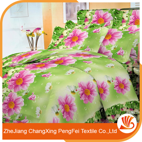New design 3d printed bedding sheet set for wholesale