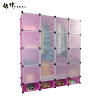 Deepen Size Bedroom Furniture Type Multifunctional plastic clothes and shoes storage closet(YK-1029)