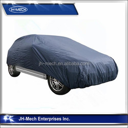 Royal blue 170 T polyester / nylon car cover