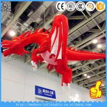 Giant Hanging Inflatable Red Dragon
