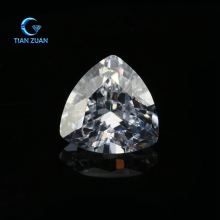 AAAAA quality cubic zirconia white color fat triangle shape synthetic cz loose gemstone