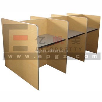 Hide-Away Student Table for Lab. Student Distribution Table, Student Table Dividers