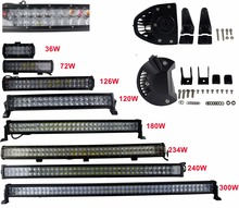 "4D LED light bar 12"" 20"" 24"" 34"" 36"" 44"" 54"" off-road light bar 72W 120W 126W 180W 234W 240W 300W Car SUV Truck light bar"