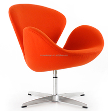 replica arne jocabsen swan chair/Moredesign swan chair with fiberglass shell and stainless steel legs