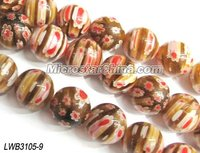 Vintage millefiori glass beads in stock