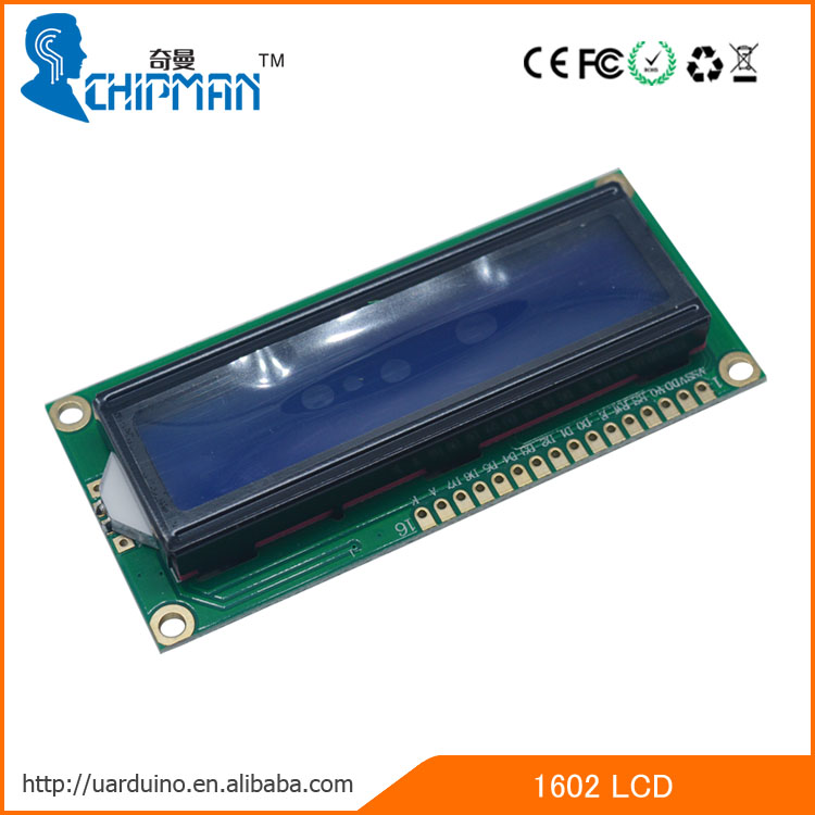 High performance 1602 LCD Digital Display small lcd display monochrome lcd display blue backlight for Arduino
