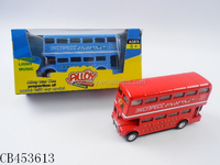 1:50 die cast double-decker bus model / metal model set with light music & pull back / die cast toys