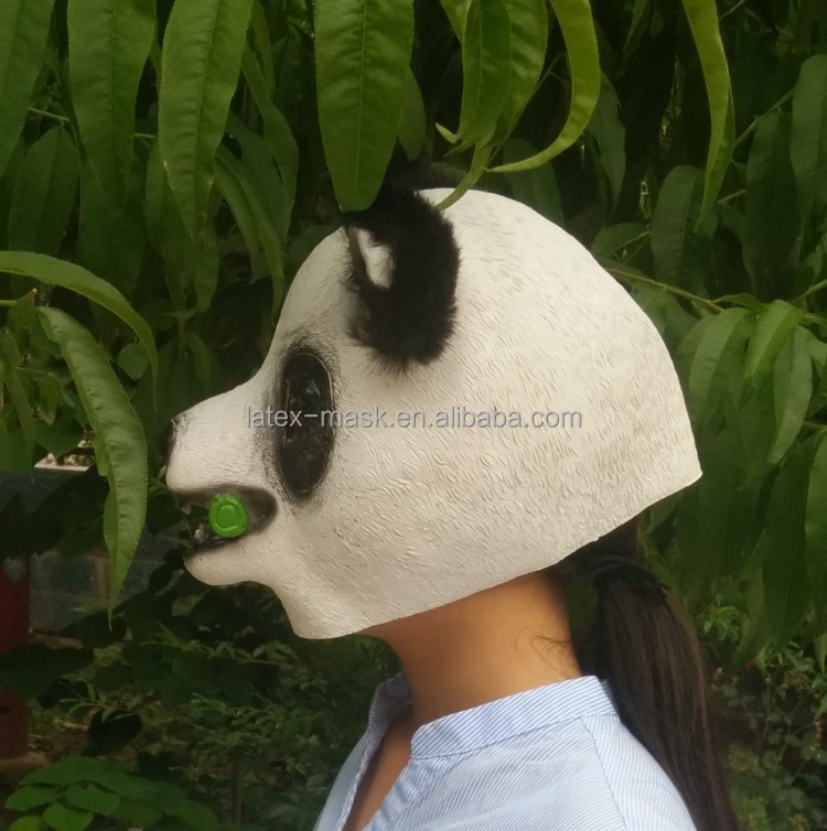 2017 Newest High Quality Latex Cro Panda Animal Party Halloween Masquerade Mask for Carnival & Festival with Free Sample