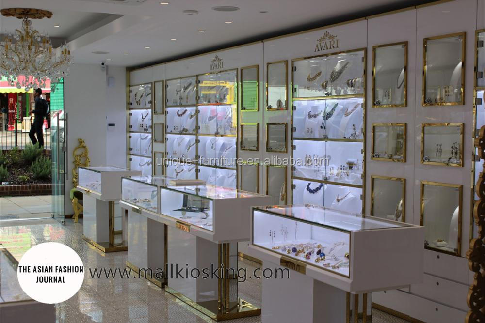 Original retail jewelry display stand with jewellery shops interior design images