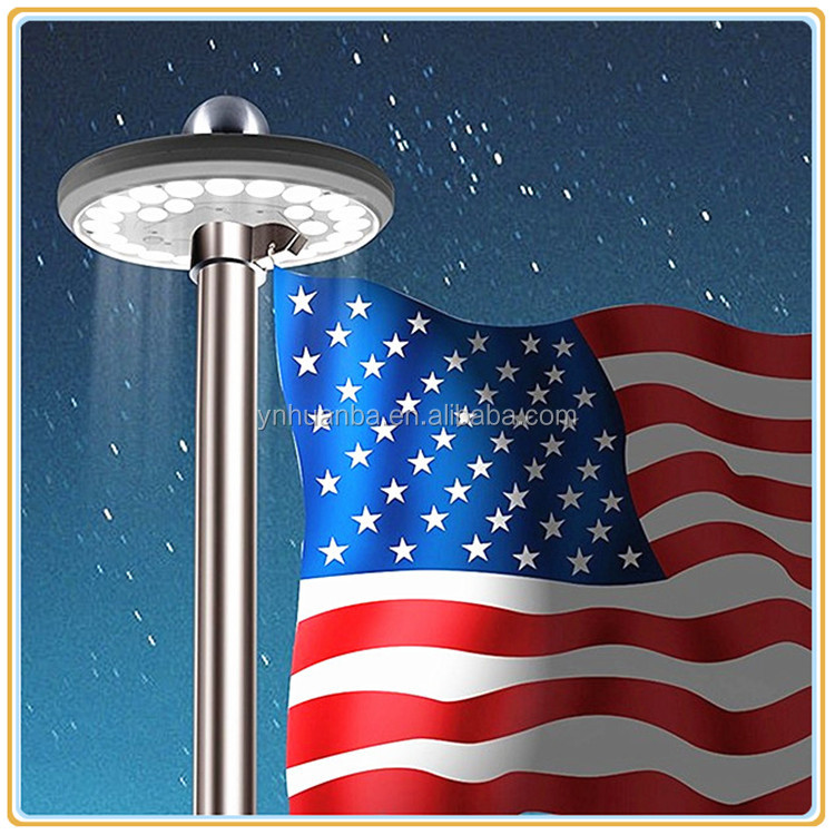 factory supply waterproof 26led solar led flag pole light with best price