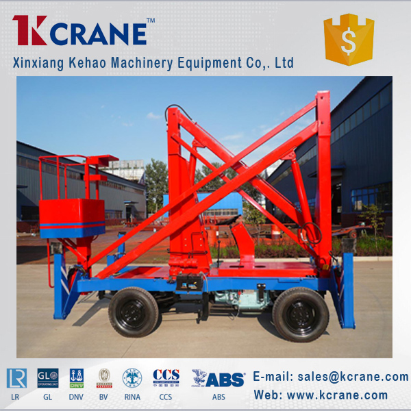 Mobile Crank Arm Lift Platform For Cargo Lift
