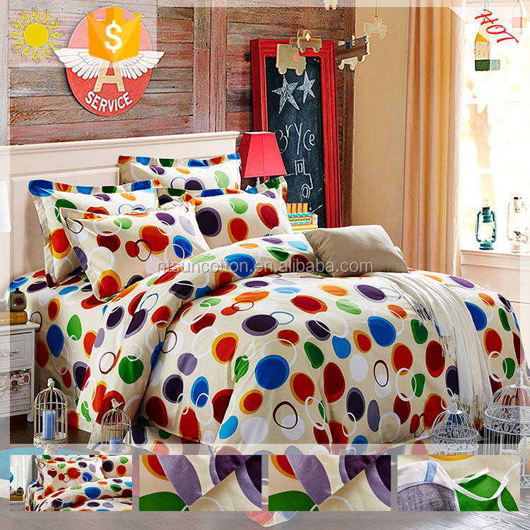 indian textiles 4PCS bedding duvet cover sets with cotton/polyester