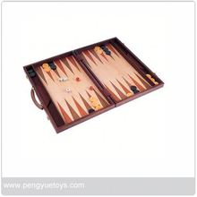 PY5088 hot sale leather backgammon case From Eagle Creation Toys