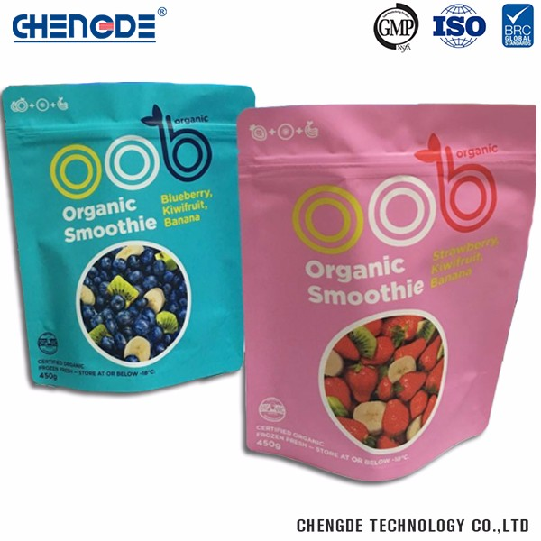 Plastic Supermarket Eco-Friendly Safety Food Grade Plastic Retail Package Pouch Bag
