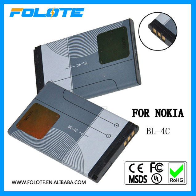 China Factory Low Price Super Quality Mobile Phone Battery For Nokia BL-4C Battery For Mobile Phone