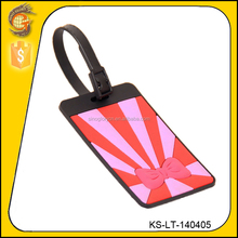 new popular pink color wholesale standard size pvc luggage tag
