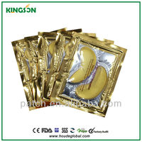 China marufacture free sample popular and hot sales collagen mask gold
