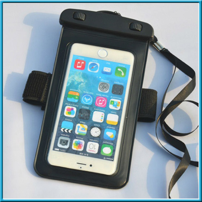 waterproof unbreakable pouch phone waterproof bag case with armband lanyard