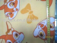 Smooth and Soft cute rabbit design printed coral fleece fabric