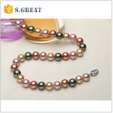 chinese latest design freshwater pearl necklace jewelry fine philippines wedding pearl necklace wholesale