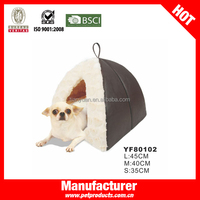 Hanging Small Leather Indoor House dog bed tents